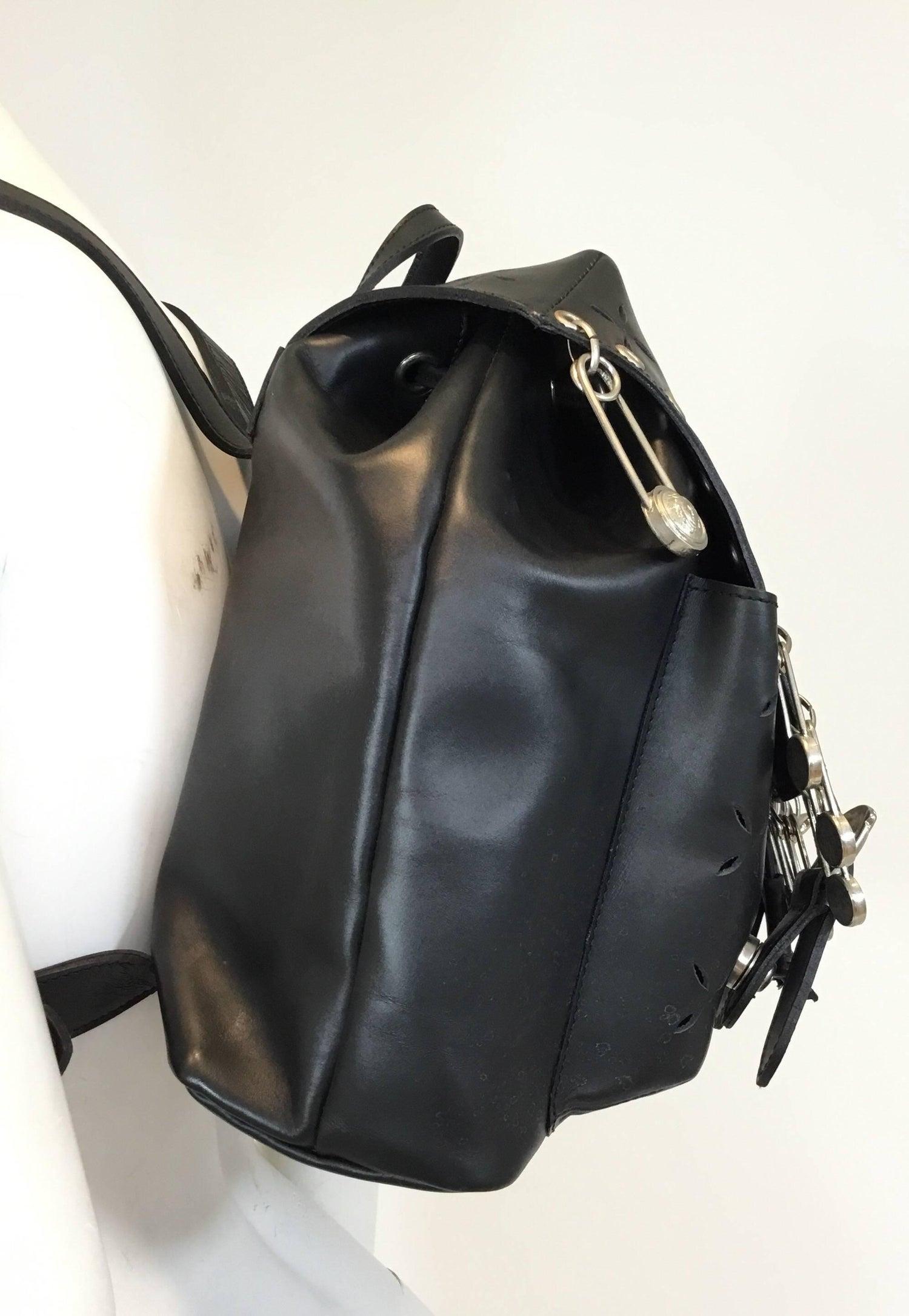 0c2df62d27 Gianni Versace 1994 Medusa Safety Pin Vintage Backpack Bag at 1stdibs