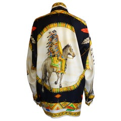 "Gianni Versace Atelier ""Native American"" Silk Printed Shirt"