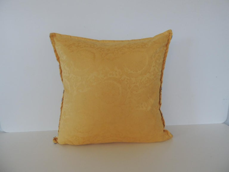 Italian Gianni Versace Authentic Seashells and Coral Printed Decorative Pillow For Sale