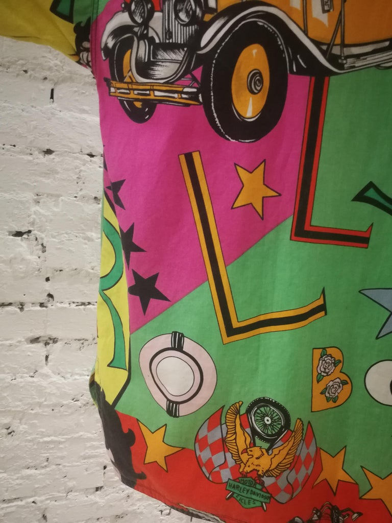 Gianni Versace Betty Boop Harley Davidson print Shirt For Sale 7