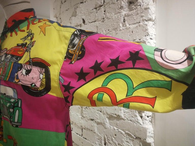 Gianni Versace Betty Boop Harley Davidson print Shirt For Sale 13