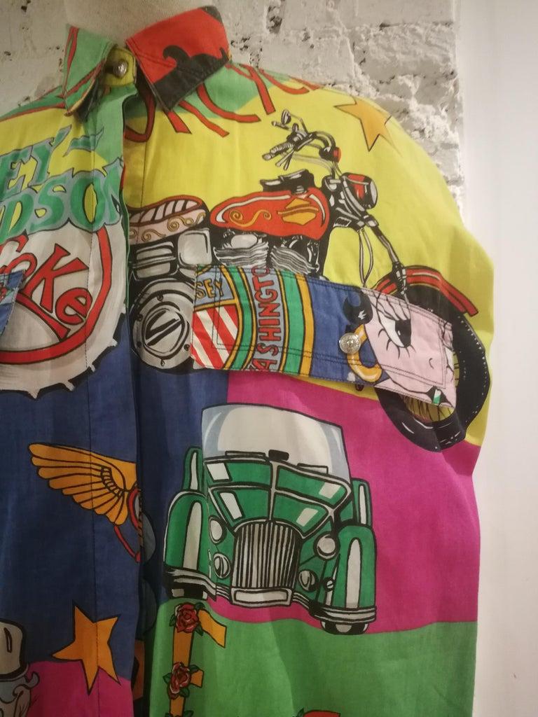 Gianni Versace Betty Boop Harley Davidson print Shirt For Sale 1