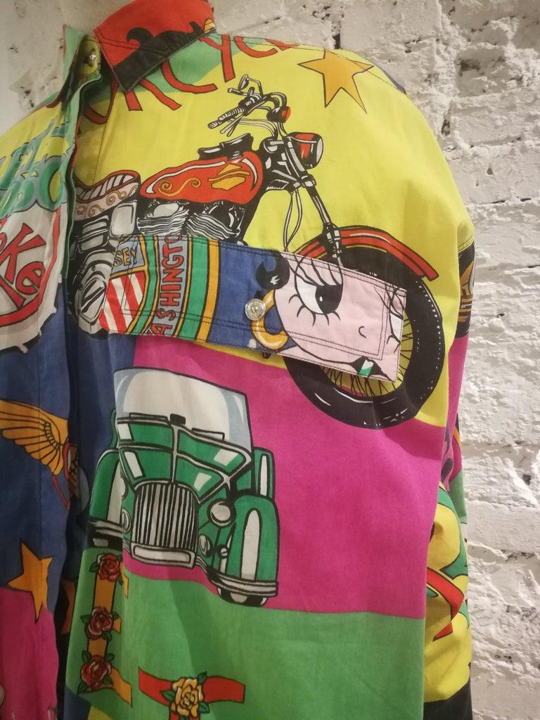 Gianni Versace Betty Boop Harley Davidson print Shirt For Sale 2
