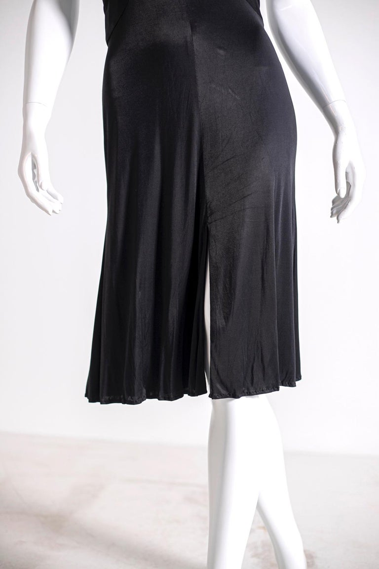 Gianni Versace Black Medusa Evening Dress 1990's For Sale 1