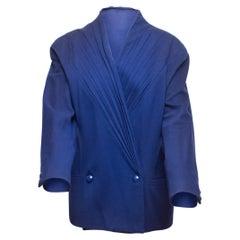 Gianni Versace Blue Couture Wool Blazer