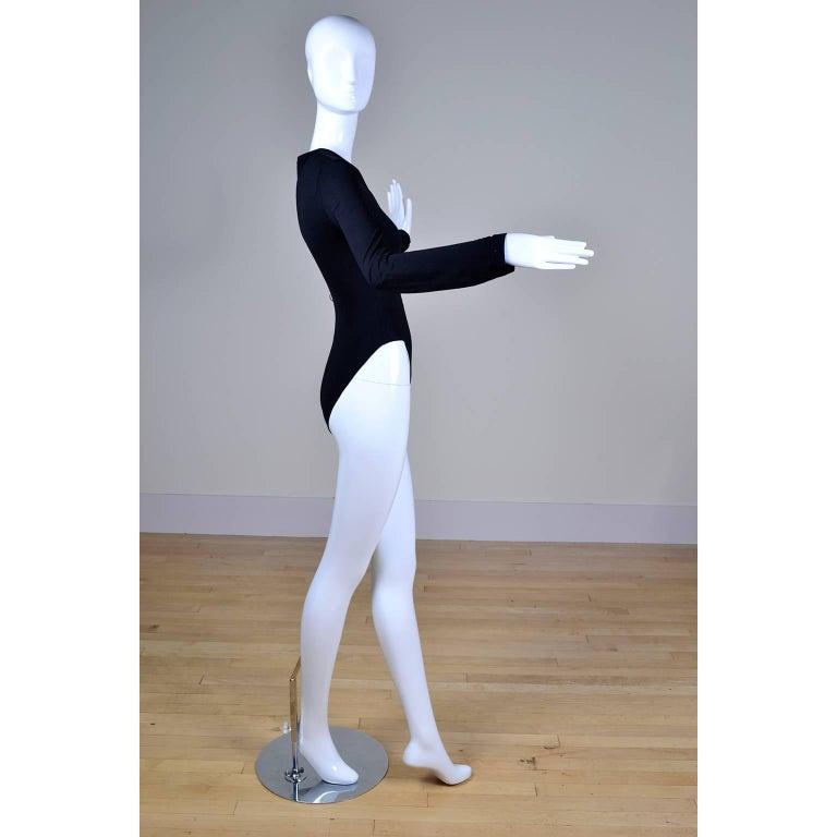 Gianni Versace Bodysuit Versace Jeans Couture Logo Top w Medusa Logo  For Sale 1