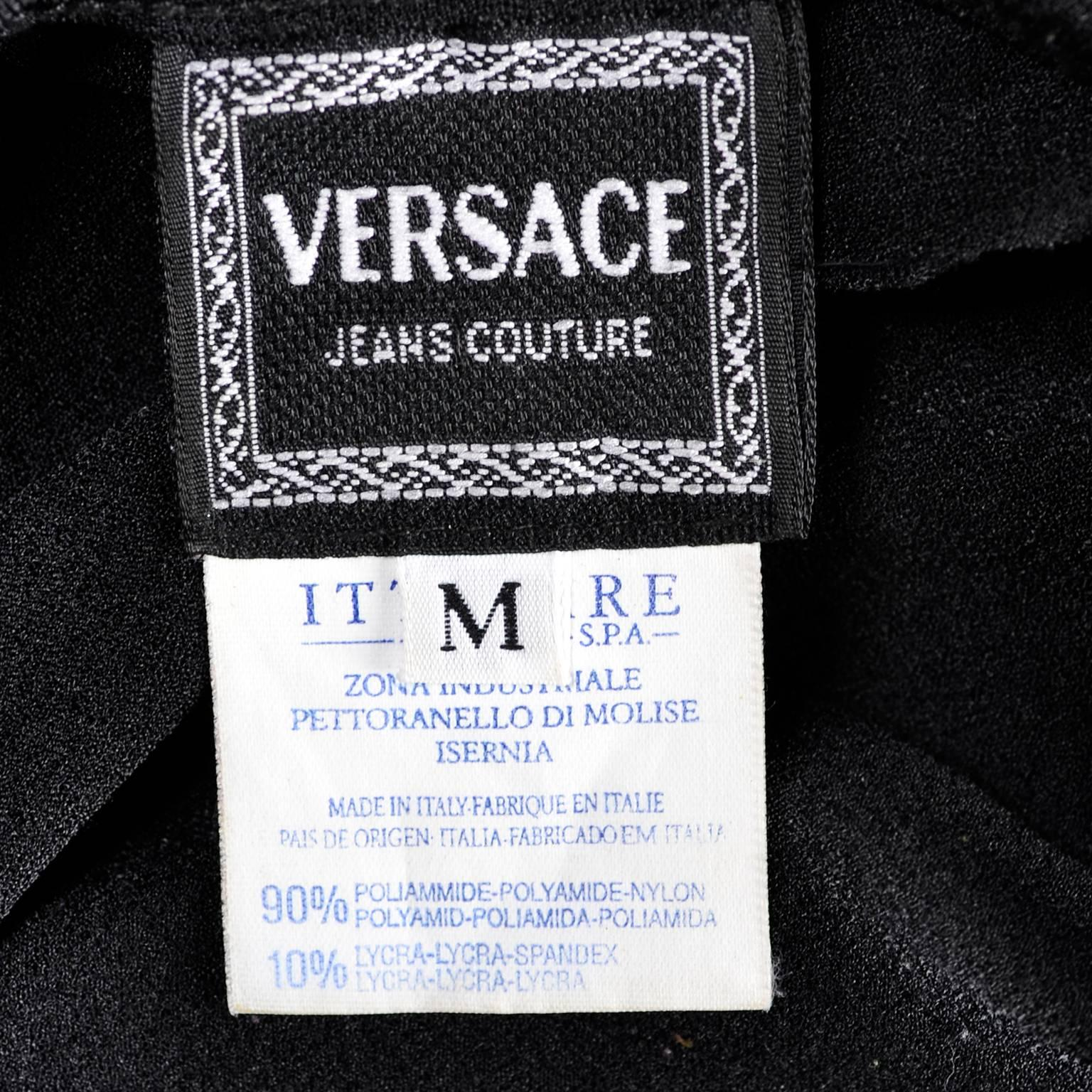 42484a86ce74 Gianni Versace Bodysuit Versace Jeans Couture Logo Top w Medusa Logo For  Sale at 1stdibs
