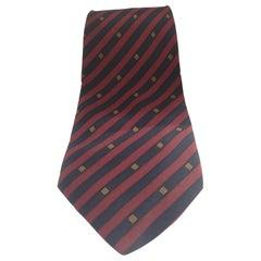 Gianni Versace Bordeaux blue silk tie