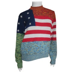 Gianni Versace Cashmere USA Flag Sweater