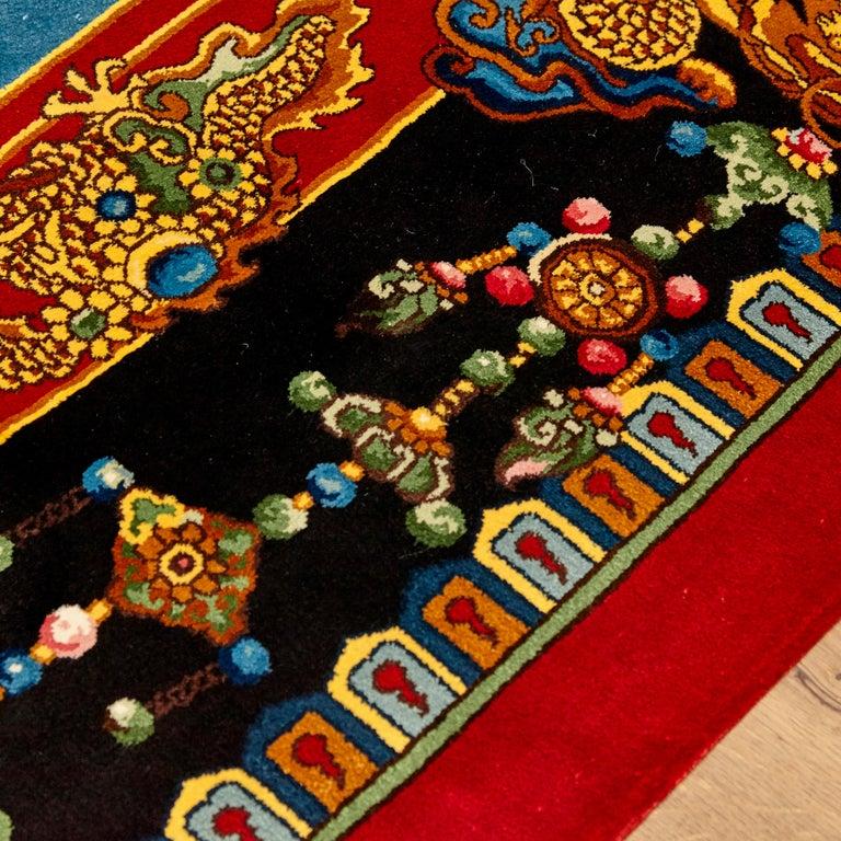 Gianni Versace Collection Rug Mandarin's Garden Silk, circa 1980 For Sale 5