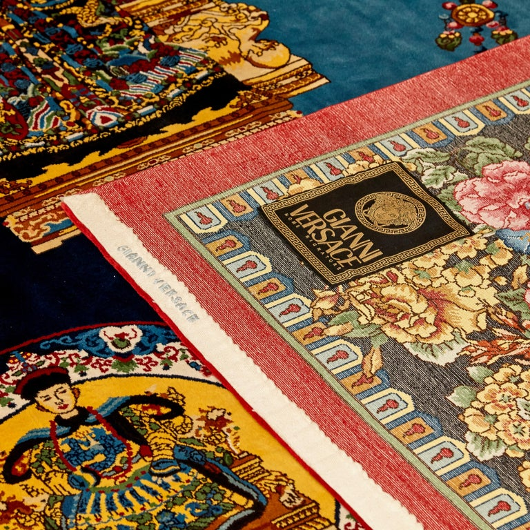 Gianni Versace Collection Rug Mandarin's Garden Silk, circa 1980 For Sale 7