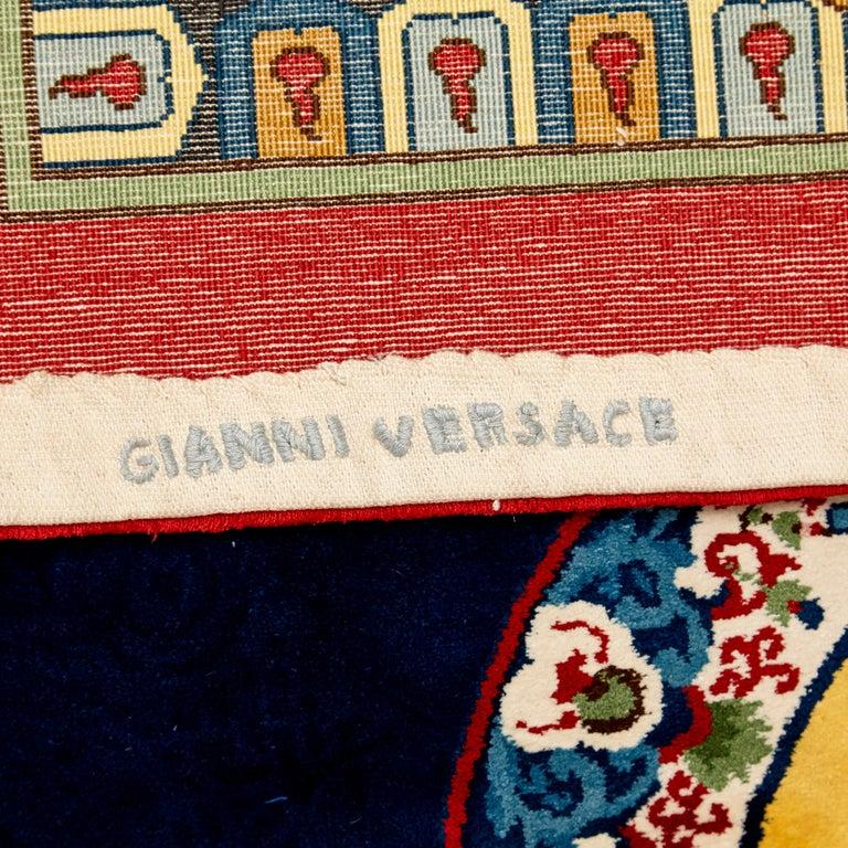 Gianni Versace Collection Rug Mandarin's Garden Silk, circa 1980 For Sale 8