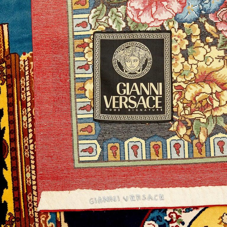 Gianni Versace Collection Rug Mandarin's Garden Silk, circa 1980 For Sale 9