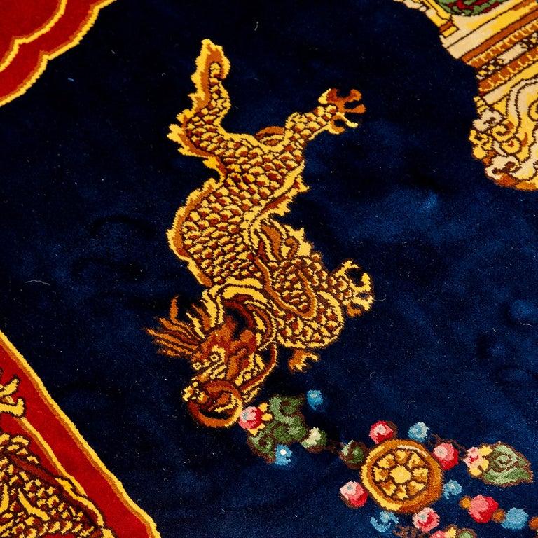 Gianni Versace Collection Rug Mandarin's Garden Silk, circa 1980 For Sale 3