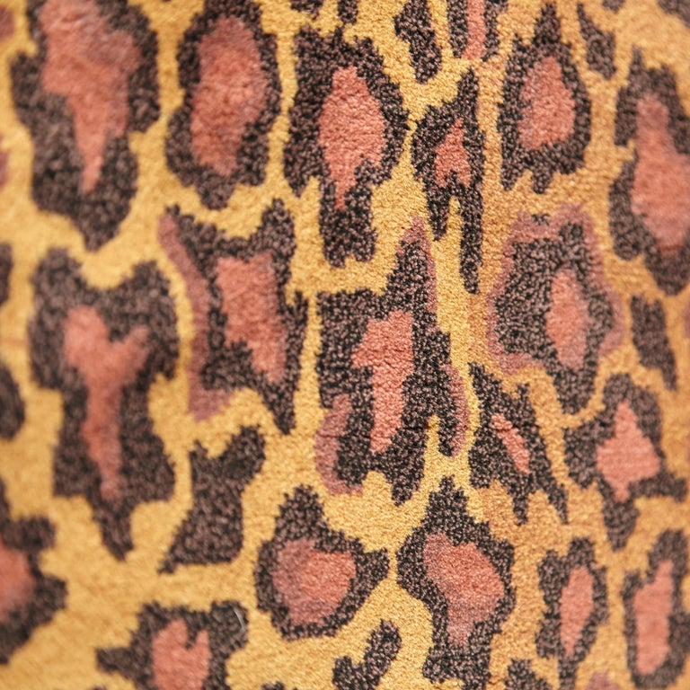 Gianni Versace Collection Rug Wild Barocco, Gold Leopard Animal Print, 1980 For Sale 1