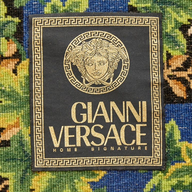 Gianni Versace Collection Rug Wild Ivy, Gold Zebra Animal Print, 1980 For Sale 6