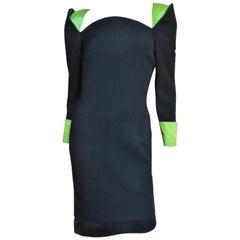 Gianni Versace Color Block Dress 1980s