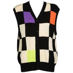 Gianni Versace Colorblock Sweater Vest, 1980s