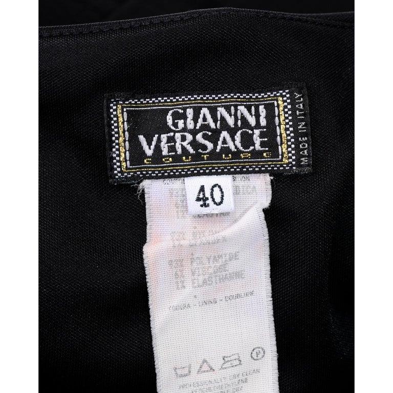 Gianni Versace Couture 1998 Vintage Black One Shoulder Dress Medusa Buckle For Sale 8