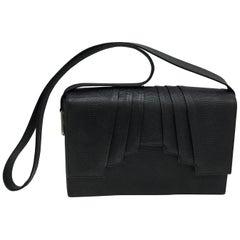 Gianni Versace Couture Black Leather Vintage Shoulder Bag