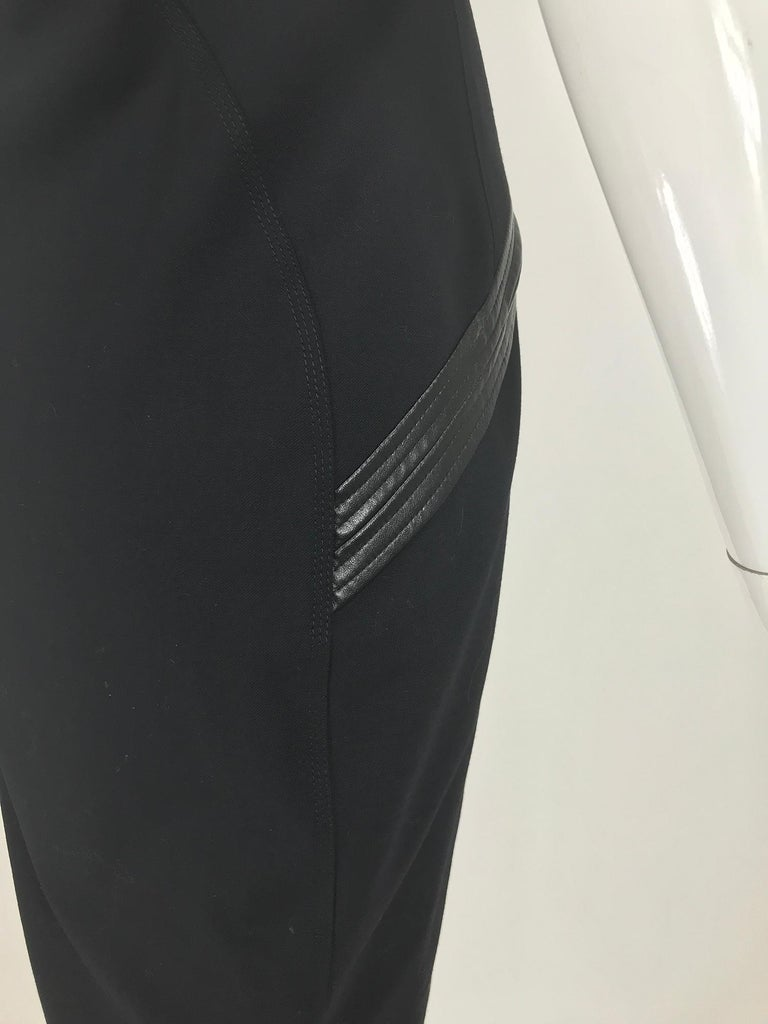Gianni Versace Couture Black stretch and Vinyl Zipper Dress 1980s For Sale 6