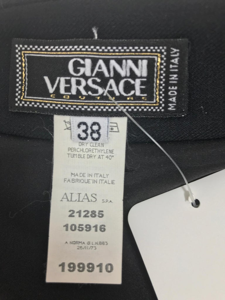 Gianni Versace Couture Black stretch and Vinyl Zipper Dress 1980s For Sale 9