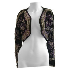 Gianni Versace Couture Crystal Beaded and Embellished Cropped Bolero