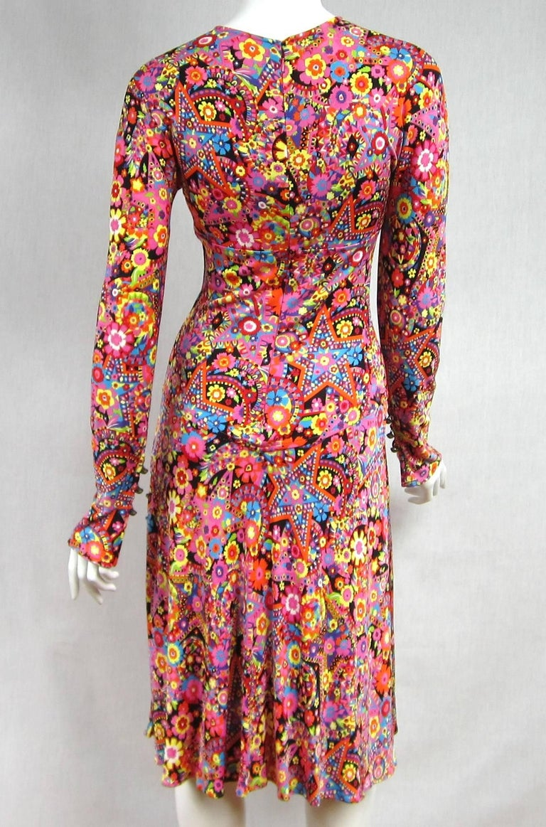 Gianni Versace Couture Floral Abstract Dress 2002 For Sale 3