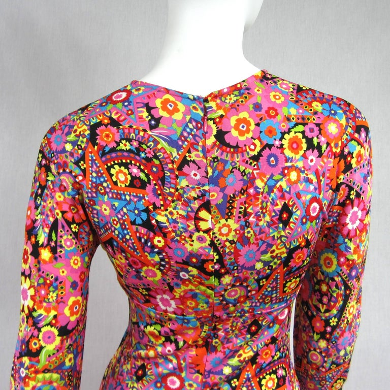 Gianni Versace Couture Floral Abstract Dress 2002 For Sale 4