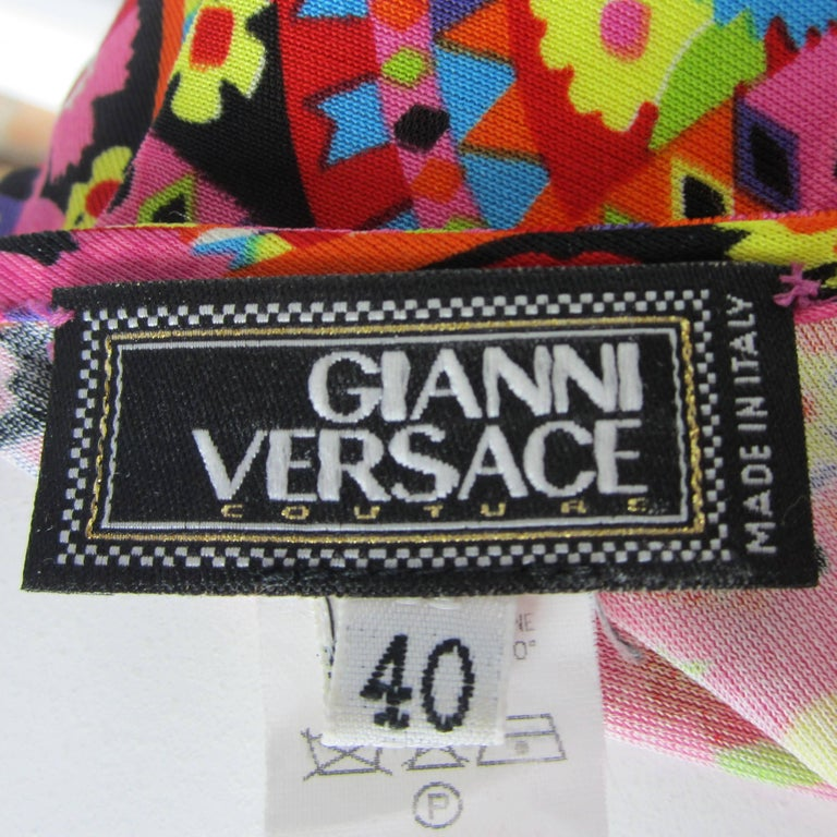 Gianni Versace Couture Floral Abstract Dress 2002 For Sale 5
