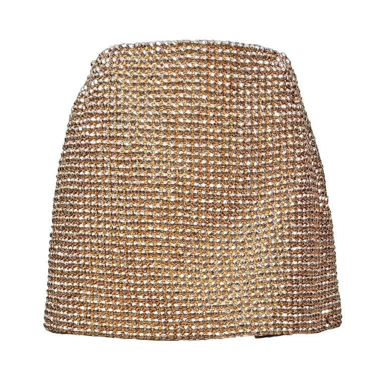 Gianni Versace Couture Golden Jewel Skirt AW 1994