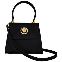 FINAL SALE Gianni Versace Couture Mini Satin Evening Bag with Medusa Head