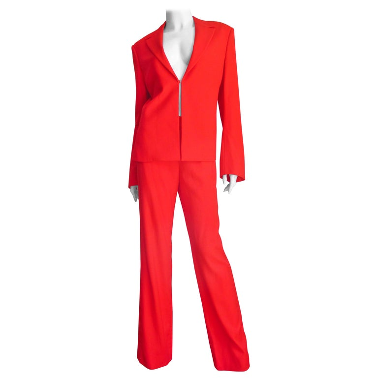 Gianni Versace Couture New Suit with Cut outs 1990s For Sale