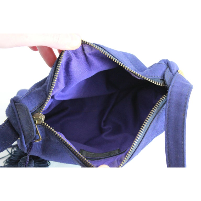 3bf886383c Gianni Versace Couture Purple Silk Shoulder Evening Bag 1980s For Sale 4