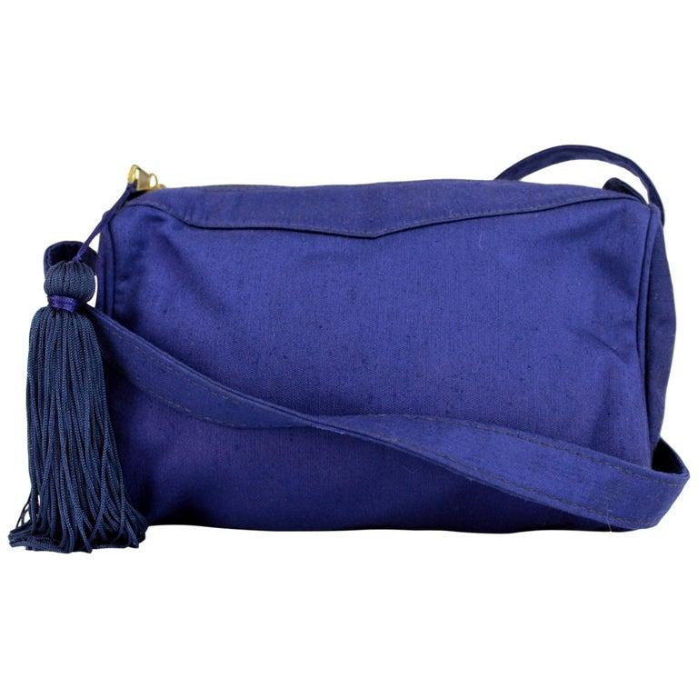 201867c8bc Gianni Versace Couture Purple Silk Shoulder Evening Bag 1980s For Sale