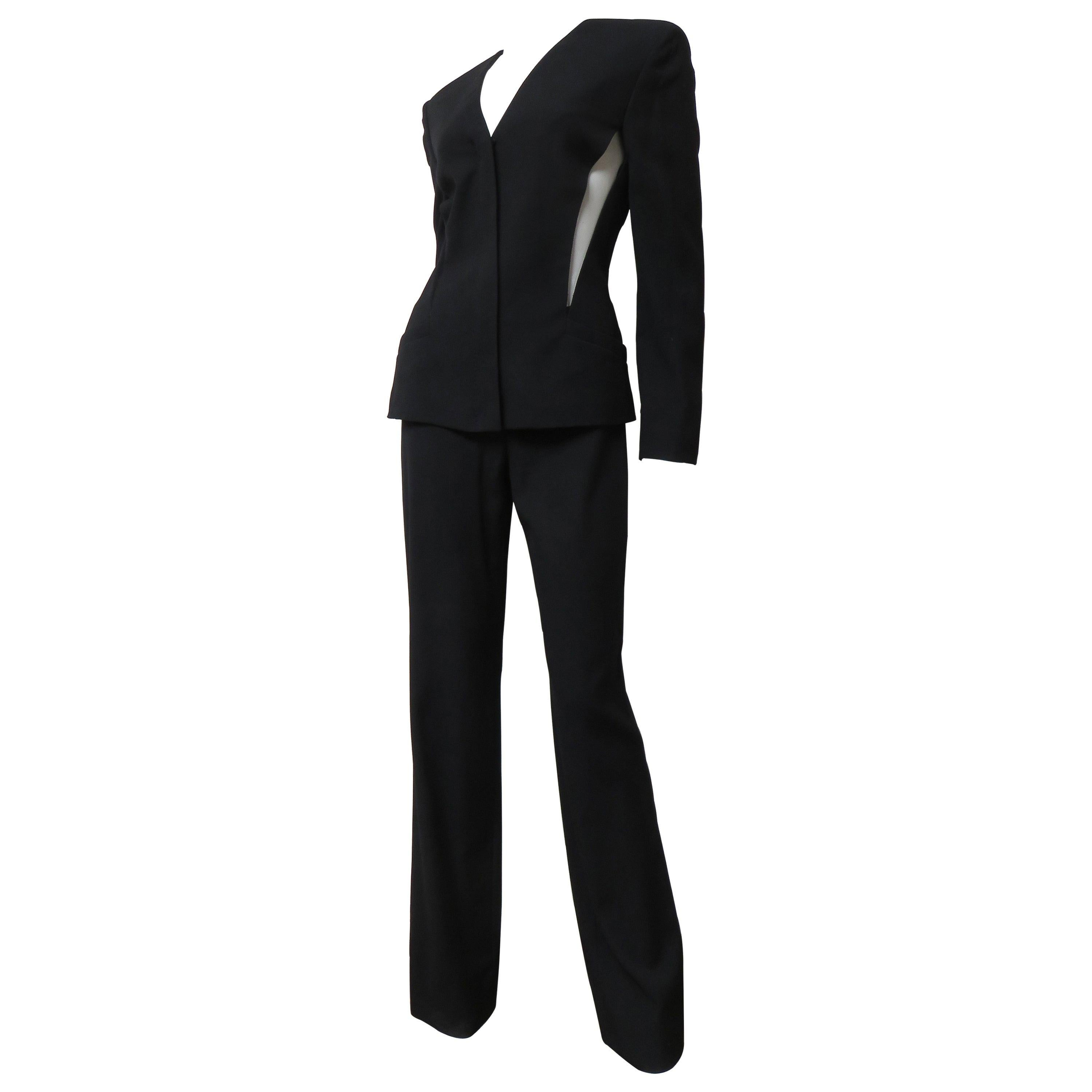 Gianni Versace Couture Silk Pant Suit with Cut outs
