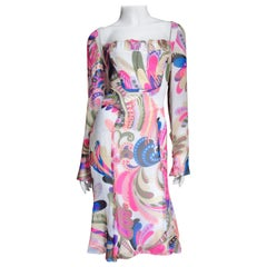 Gianni Versace Couture Silk Print Dress