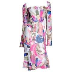 Gianni Versace Couture Silk Print Dress