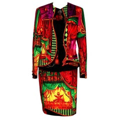 Gianni Versace Couture Theater Print Suit