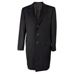 Gianni Versace Couture Vintage Mens Long Black Coat