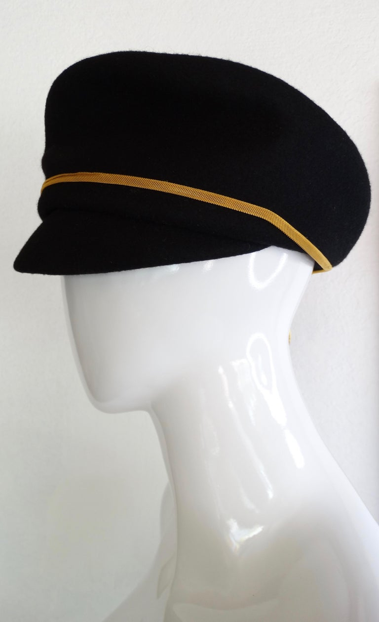 Gianni Versace Felt Hat with Gold Threaded Tassel  For Sale 7