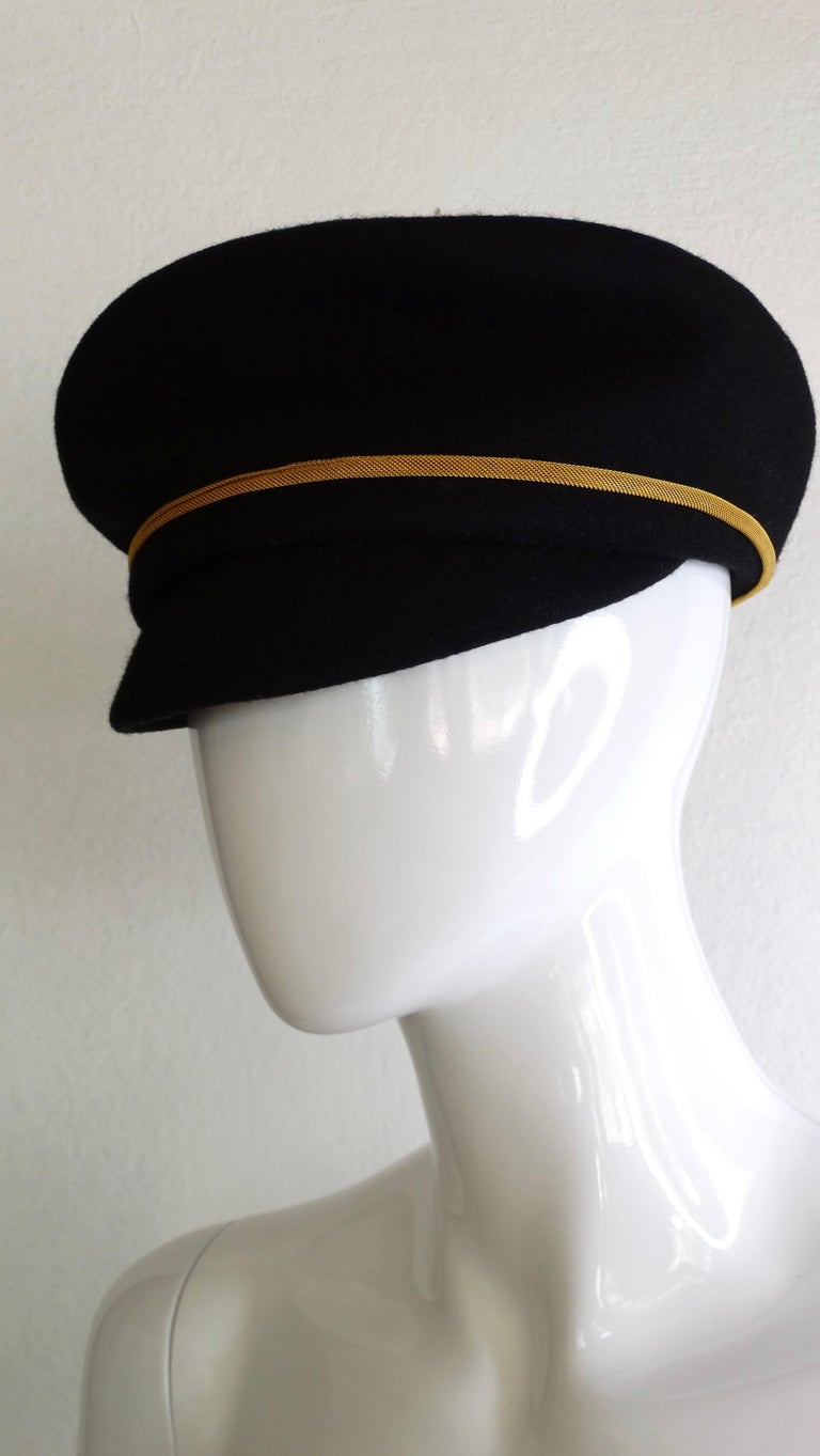 Gianni Versace Felt Hat with Gold Threaded Tassel  For Sale 2