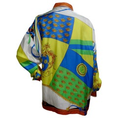 Gianni Versace Flag Motif Silk Shirt