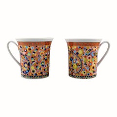 """Gianni Versace for Rosenthal, 2 """"Le Cirque"""" Cups"""
