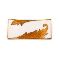 """Gianni Versace for Rosenthal, """"Arabesque Gold"""" Porcelain Knife Rest"""