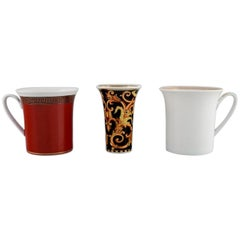 Gianni Versace for Rosenthal, Barocco et al, Two Cups and a Vase in Porcelain