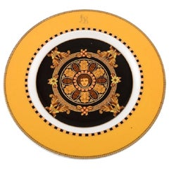 Gianni Versace for Rosenthal, Barocco Porcelain Plate with Gold Decoration