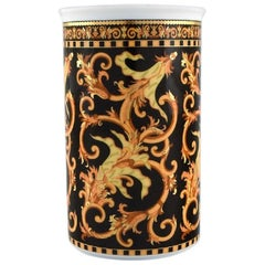 Gianni Versace for Rosenthal, Barocco Vase in Porcelain with Gold Decoration