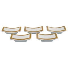 Gianni Versace for Rosenthal, Five Knife Rests in White Porcelain