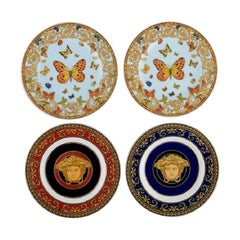 Gianni Versace for Rosenthal, Four Plates in Porcelain, Late 20th Century